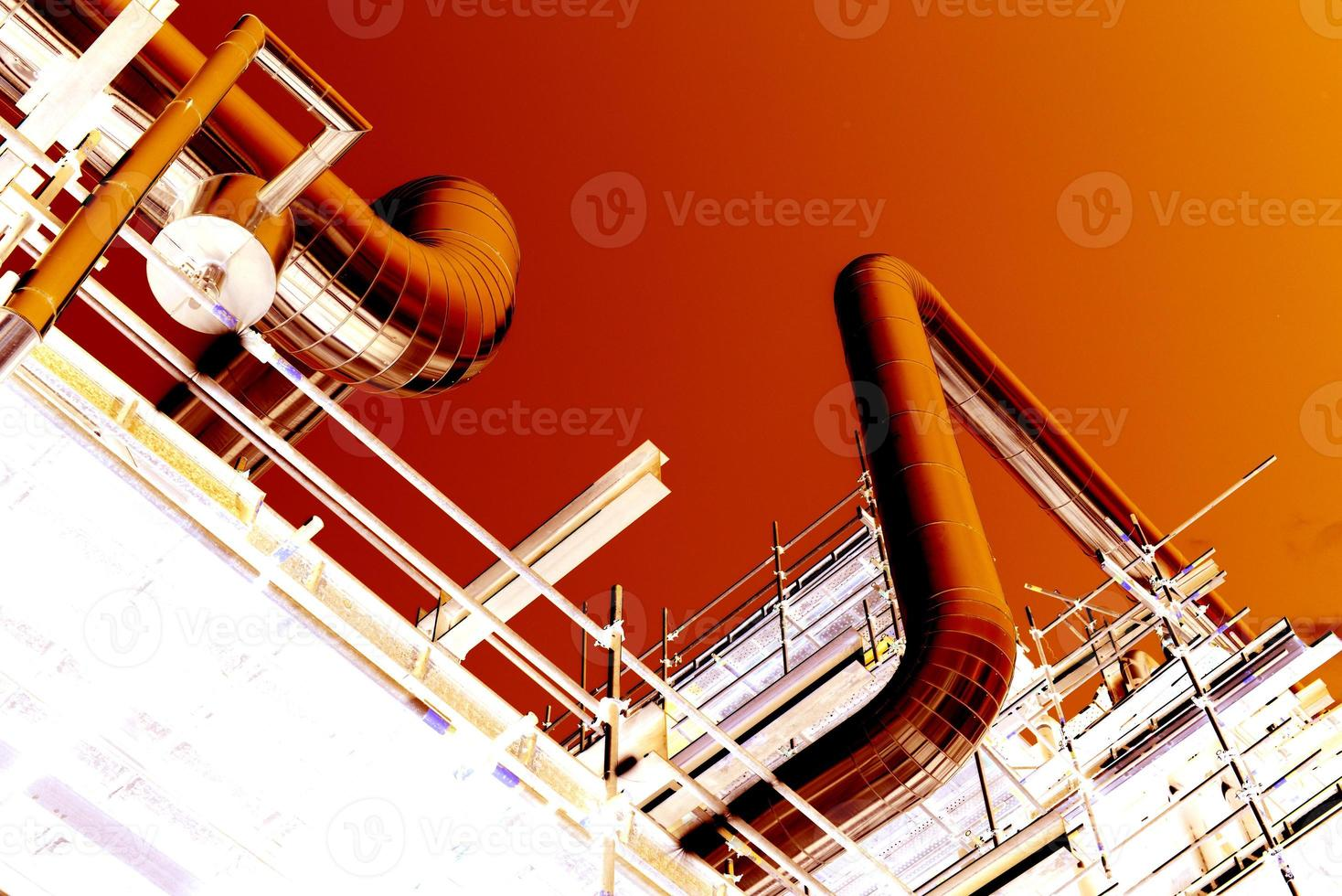 color negativo para la construcción de tuberías foto