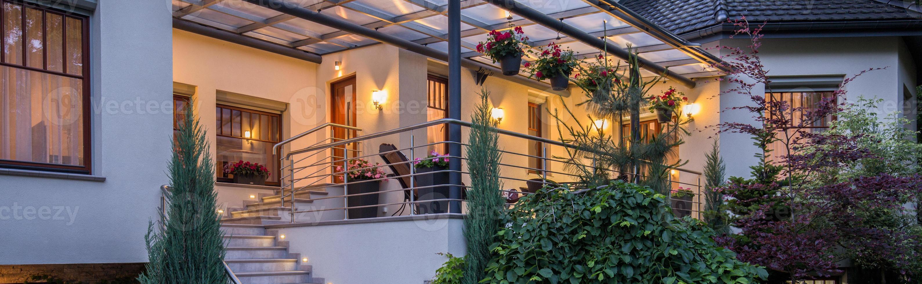 terraza en villa foto