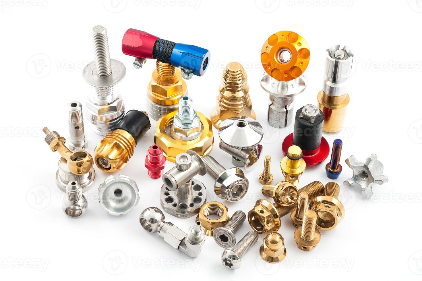 Spare part of motorcycle for decorating and maintenance photo