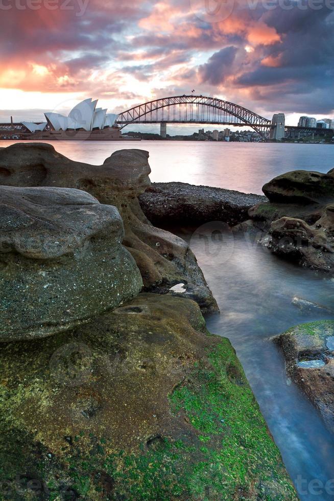 The Sydney Opera House and harbour bridge in Australia photo