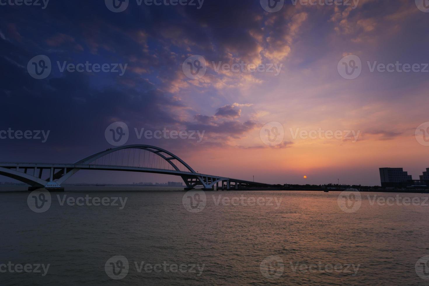 Puente de Xiamen Wuyuan al amanecer foto