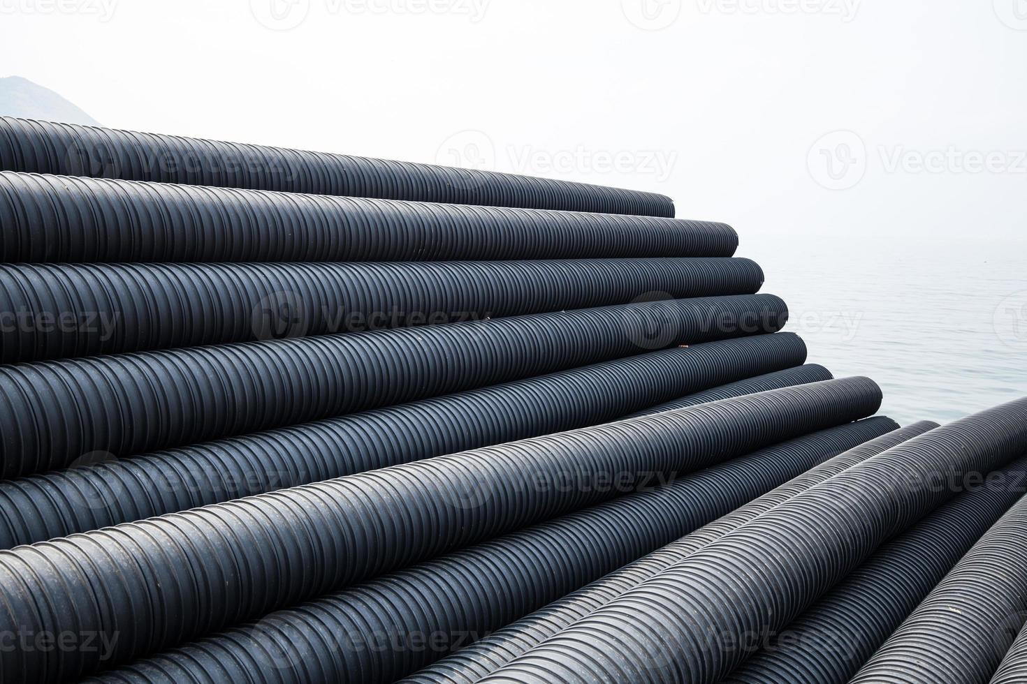 Industrial plastic pipe photo
