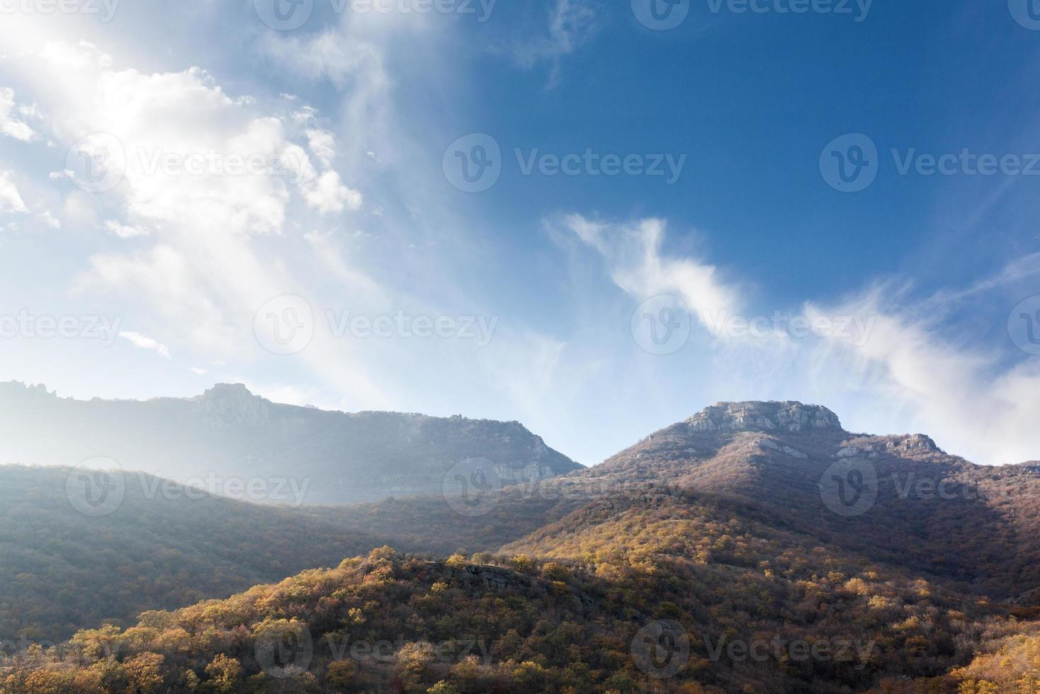 Mountains in the haze photo