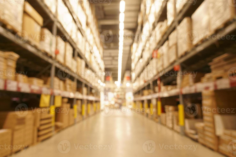 Defocused image of warehouse photo