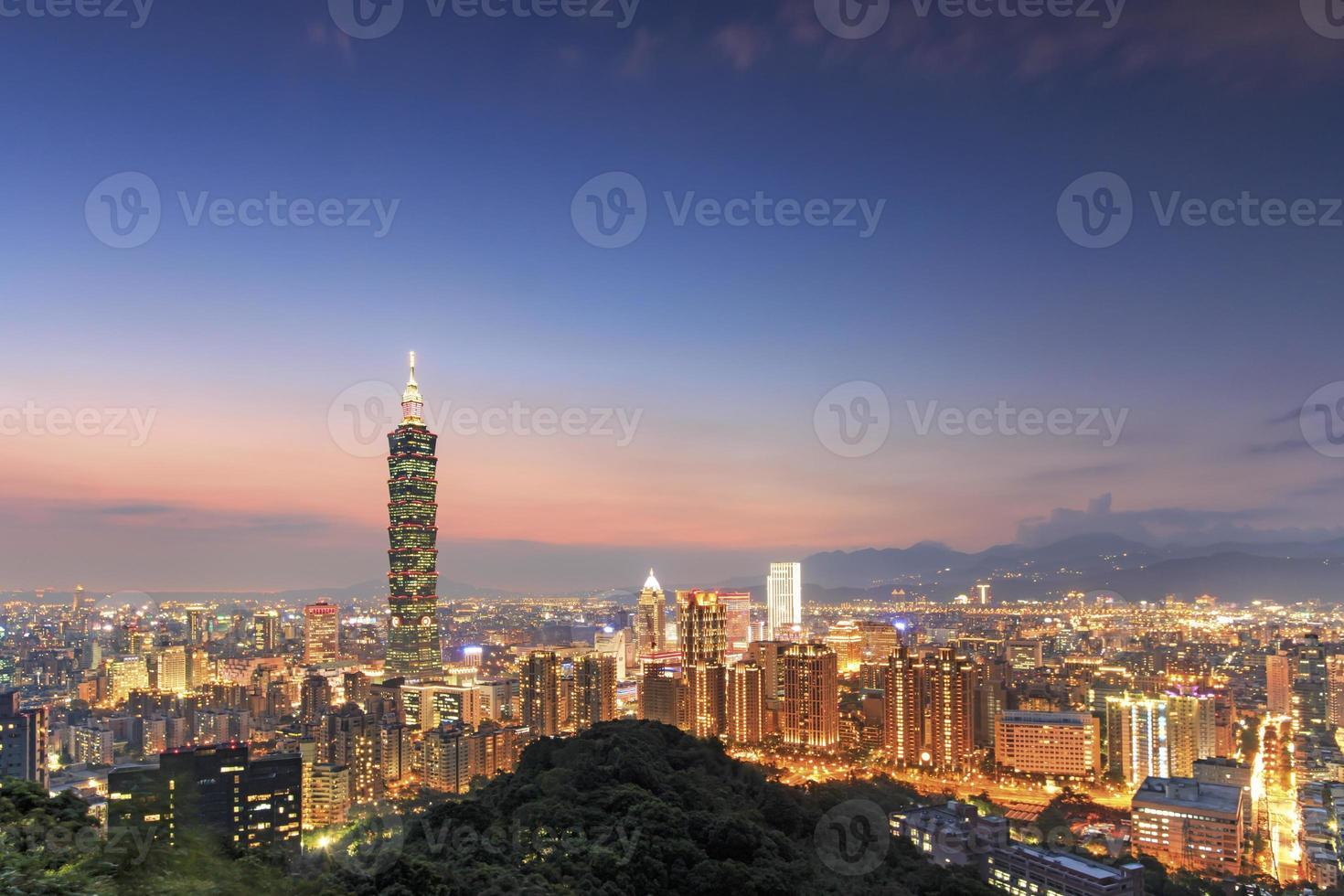 Taipei by night, in Taiwan photo