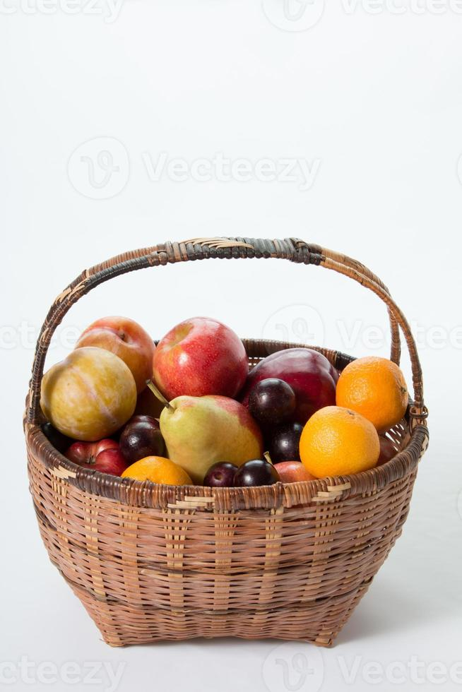 fruits in a basket photo
