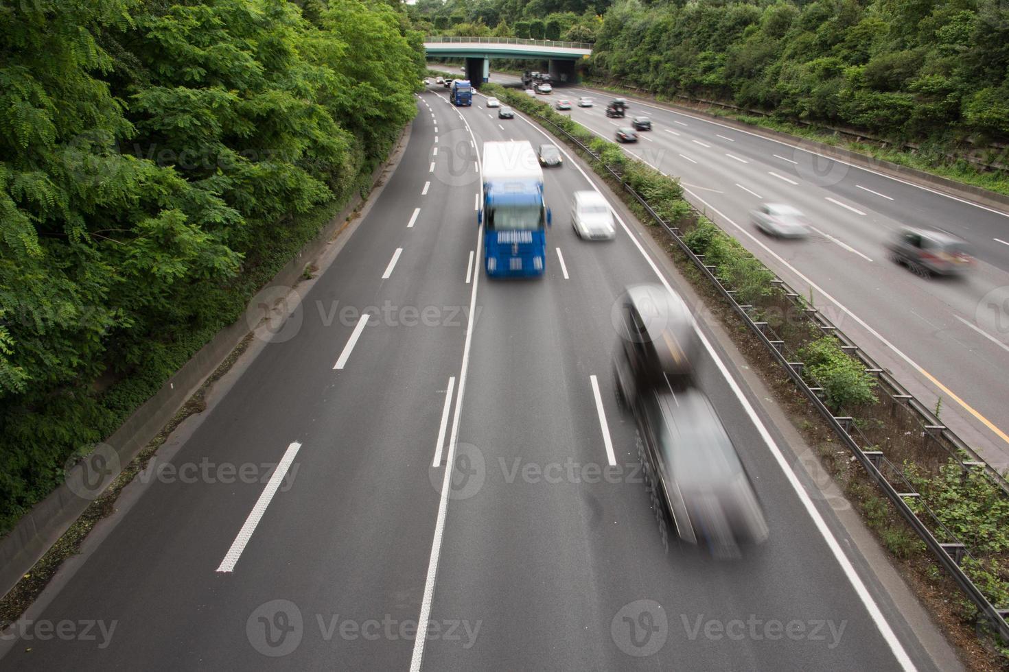 Cars speeding photo
