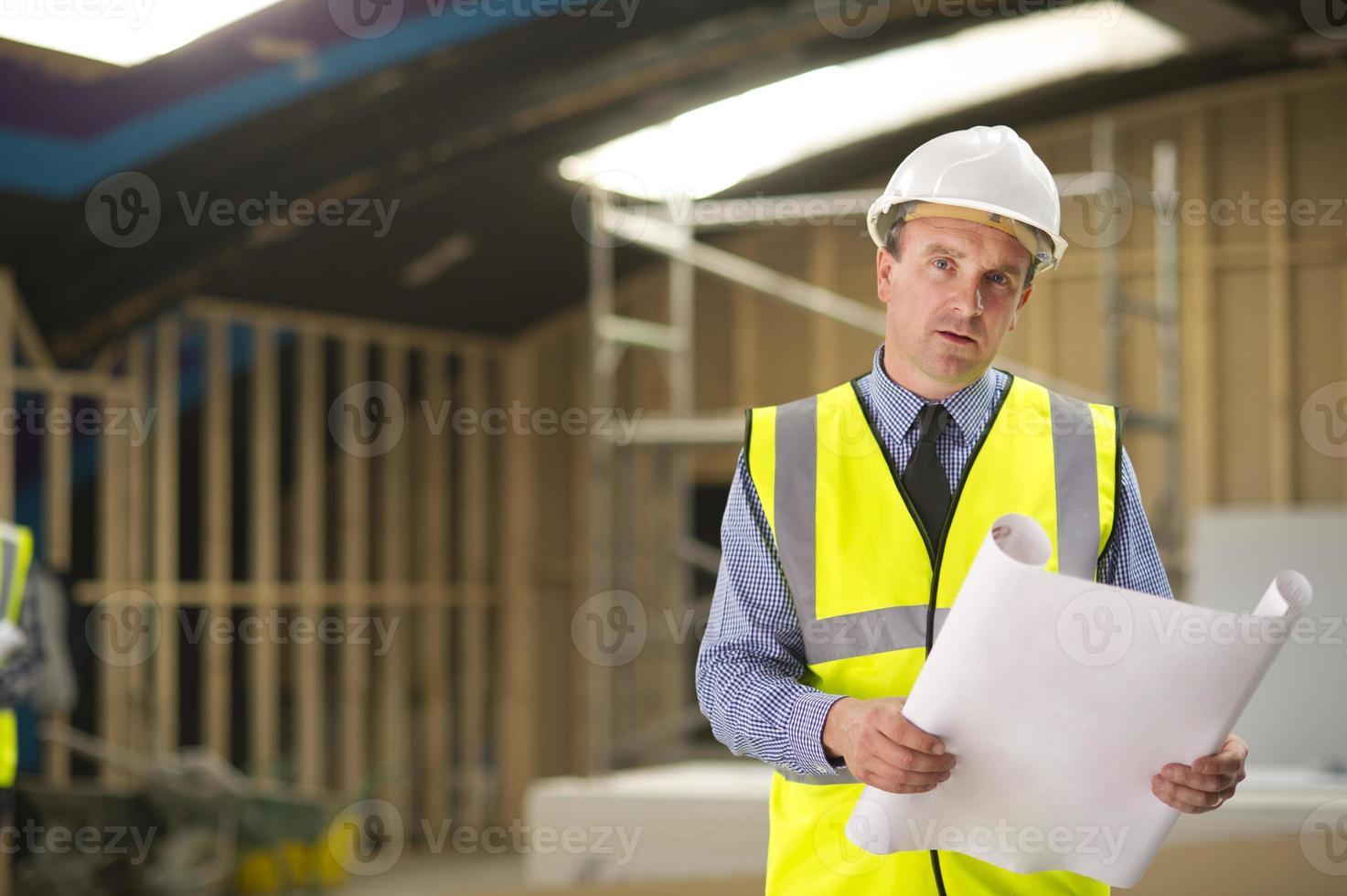 arquitecto en el sitio foto