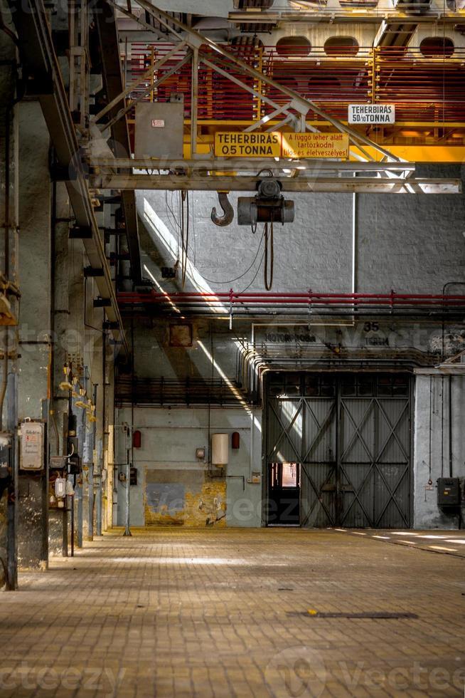 Dark industrial interior photo
