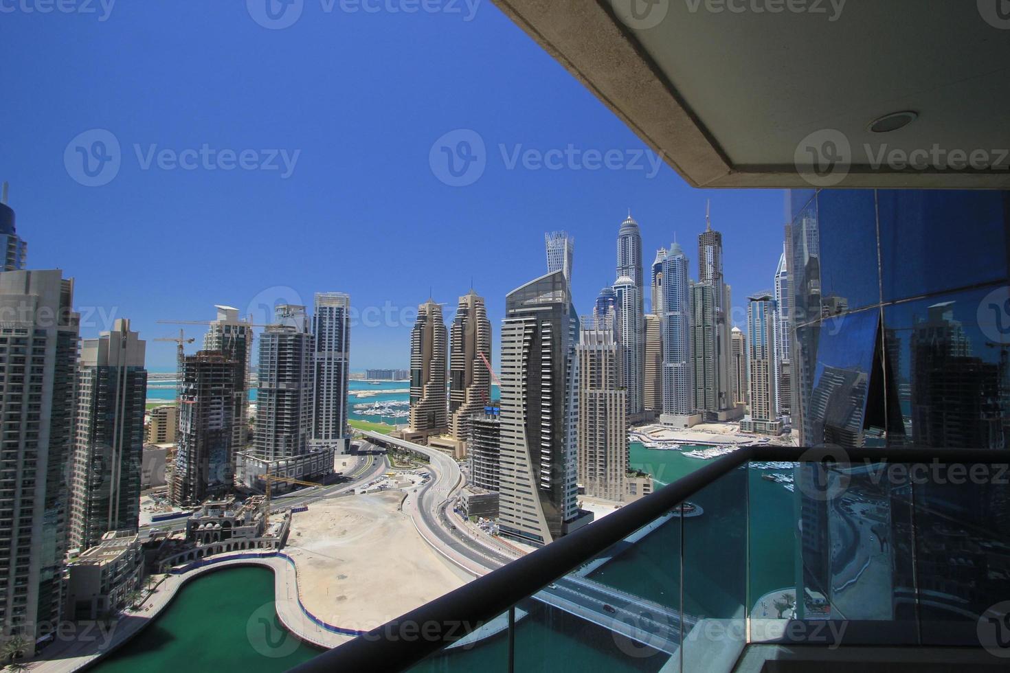 the skyline of Dubai, UAE photo