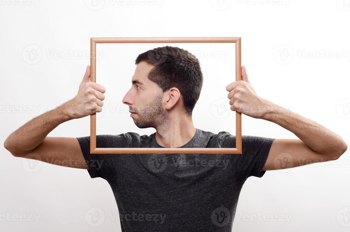 Portrait in frame photo
