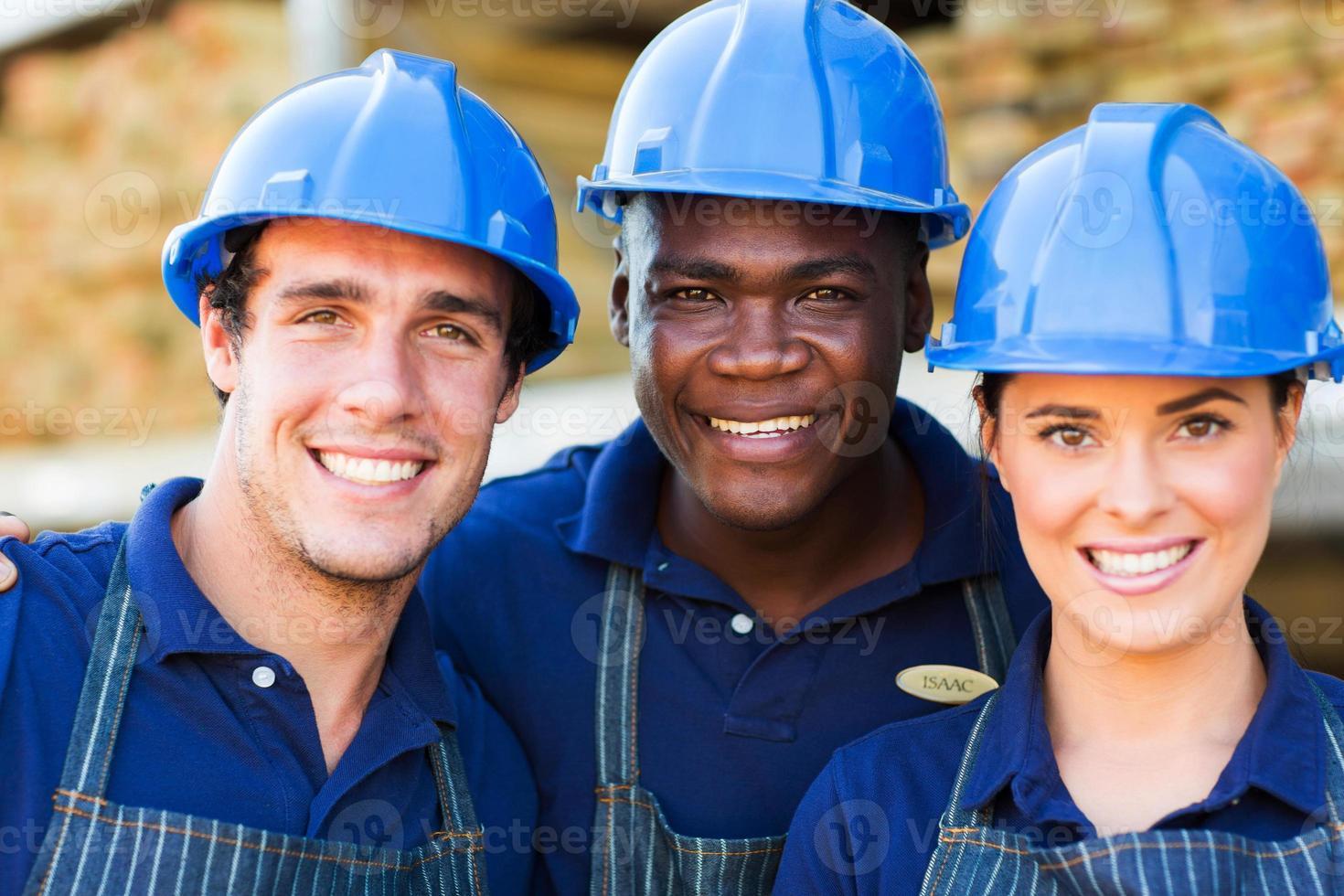 trabajadores de ferreterías foto