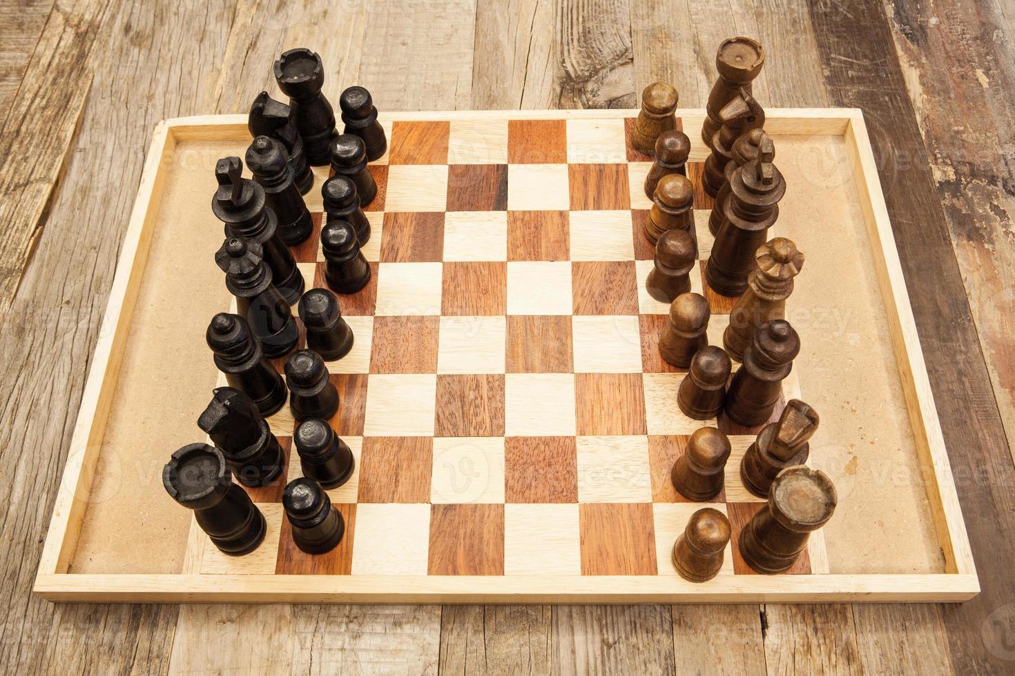 tablero de ajedrez foto