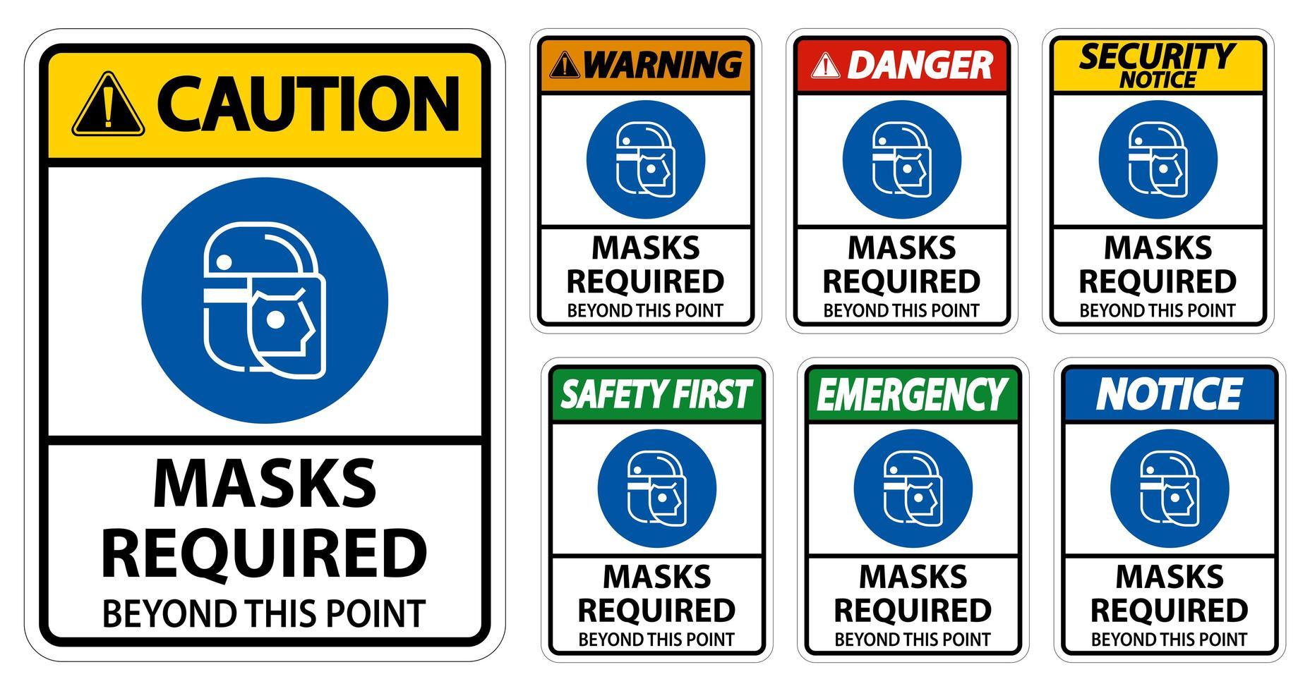 segno che dice che sono necessari gli scudi facciali vettore