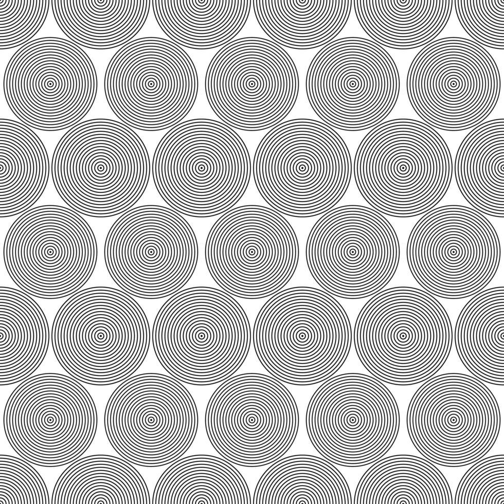 cerchi di linea nera senza soluzione di continuità vettore