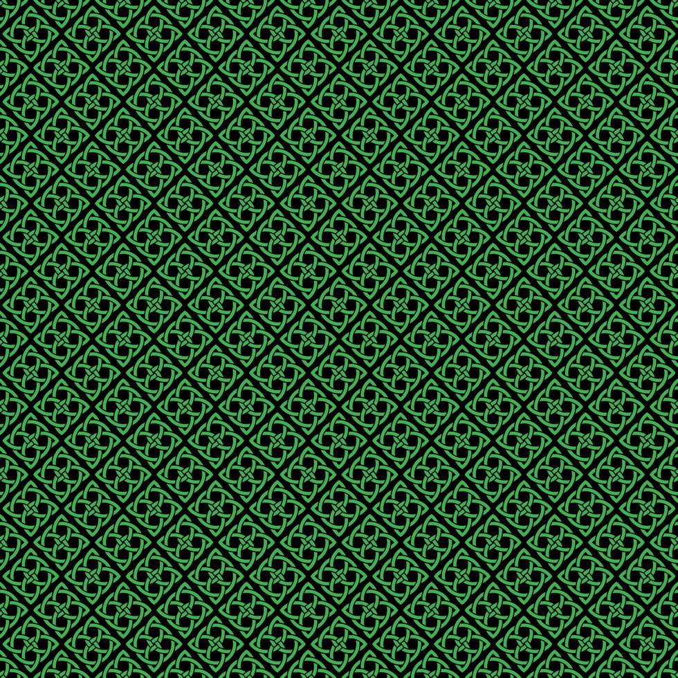 naadloze Keltische knooppatroon op zwart vector
