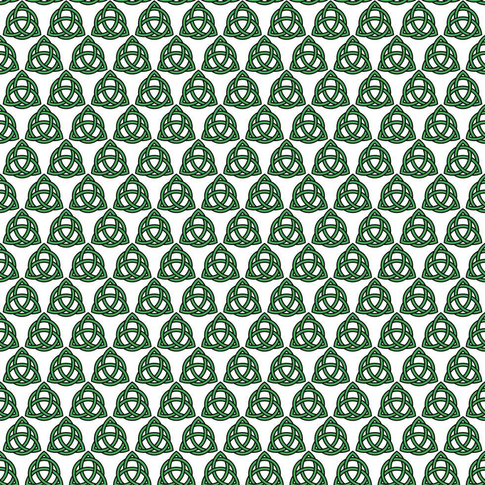 naadloze Keltische knooppatroon op wit vector