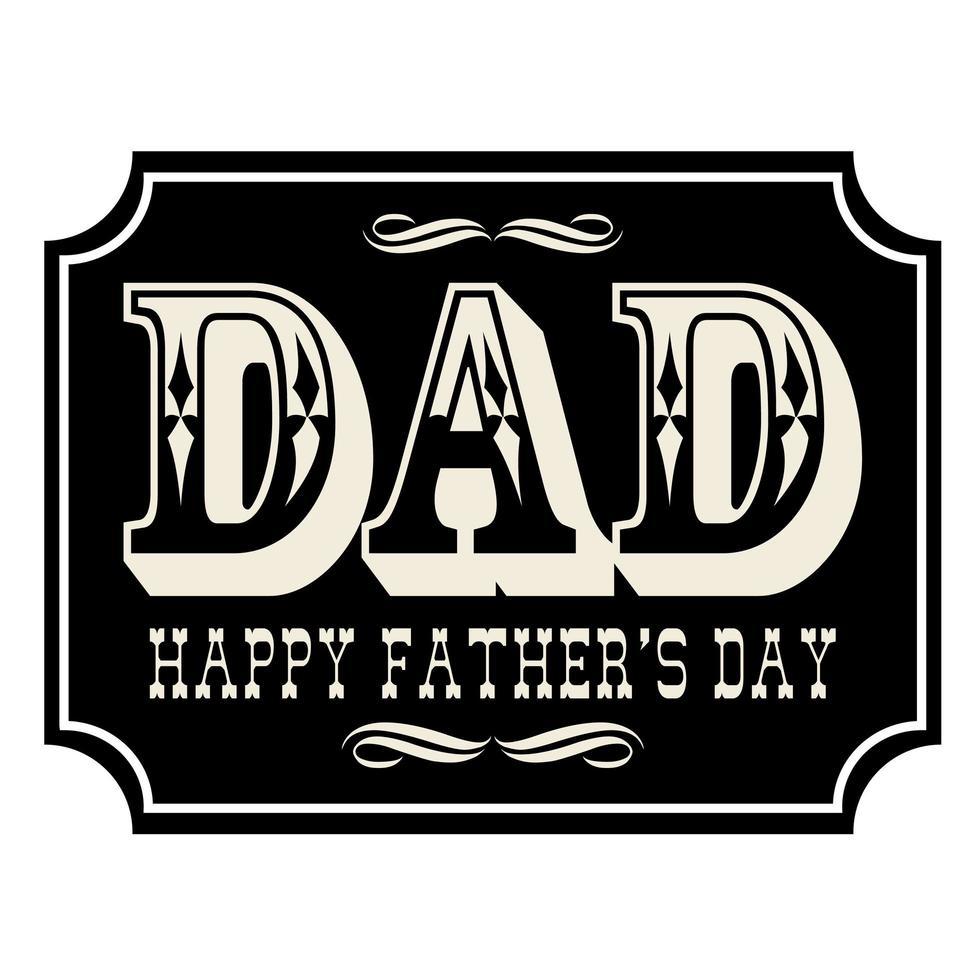lyckliga fäder dag plakat vektor