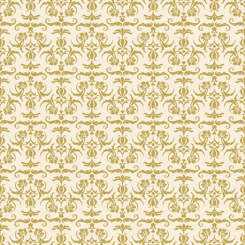 motivo damascato decorativo oro senza soluzione di continuità vettore
