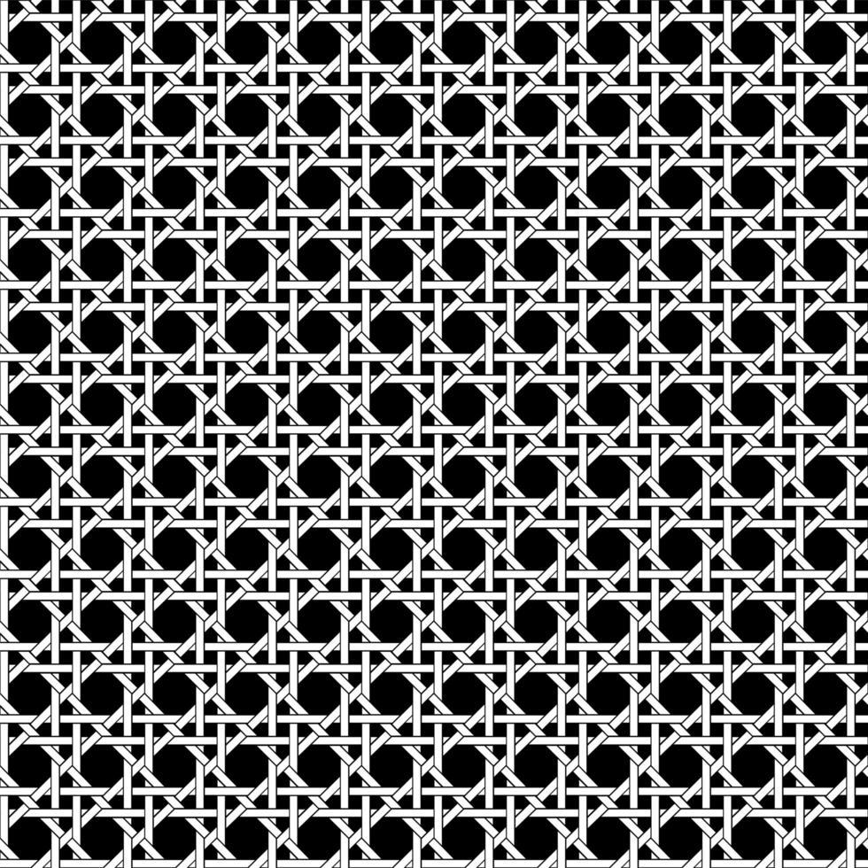 motif de tissage en treillis noir et blanc sans couture vecteur
