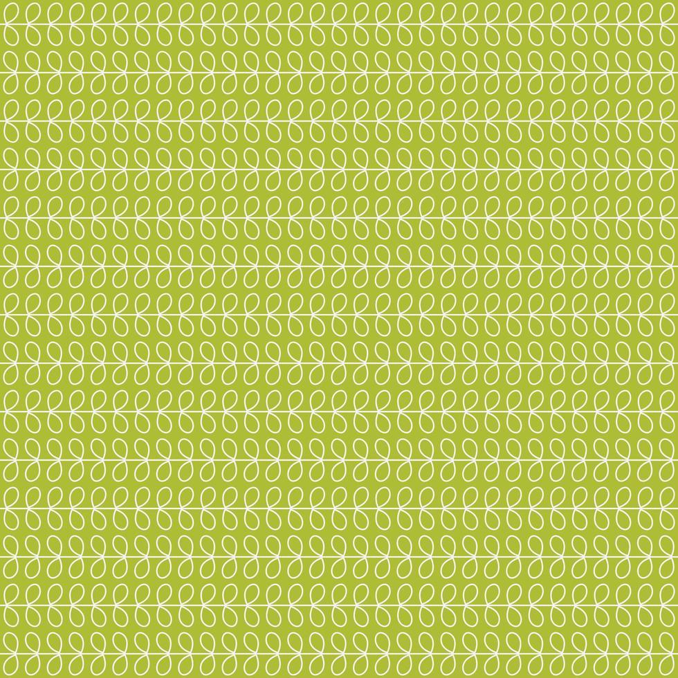 foglia di contorno bianco su verde seamless vettore