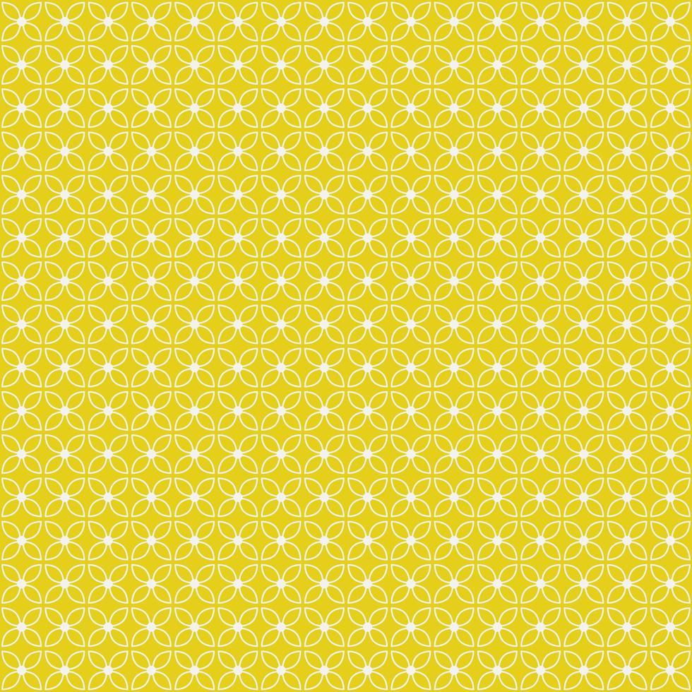 motif sans soudure géométrique floral jaune et blanc vecteur