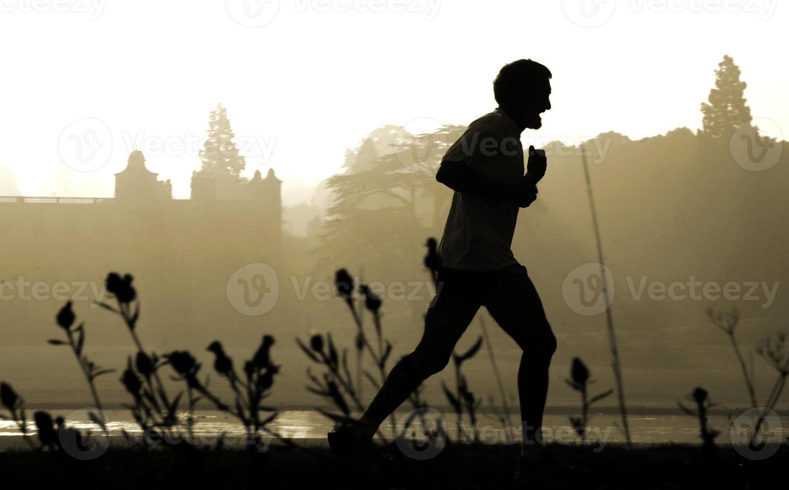 persona que practica jogging foto