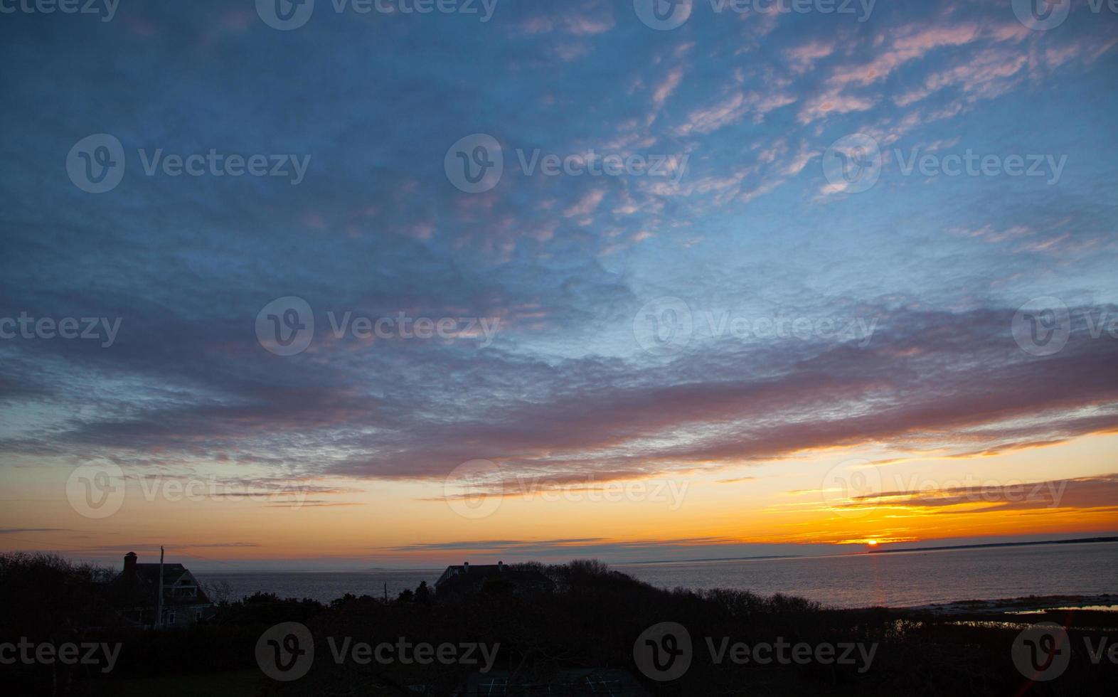 bacalao de cabo puesta de sol de acción de gracias foto
