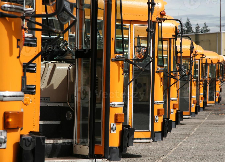 lote de autobuses foto