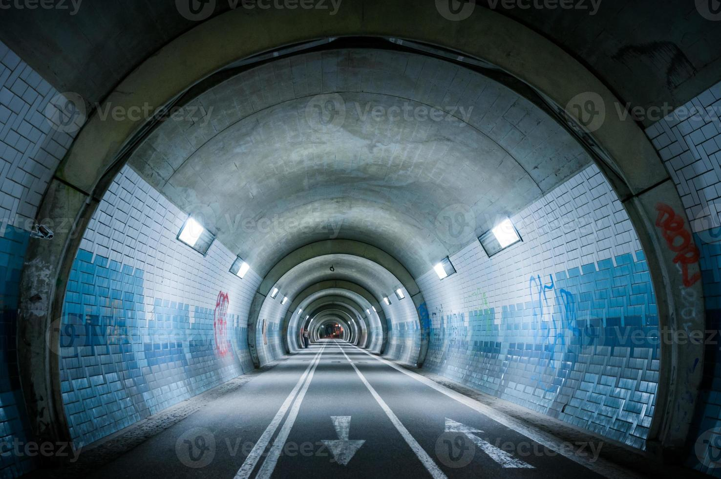 el tubo azul foto
