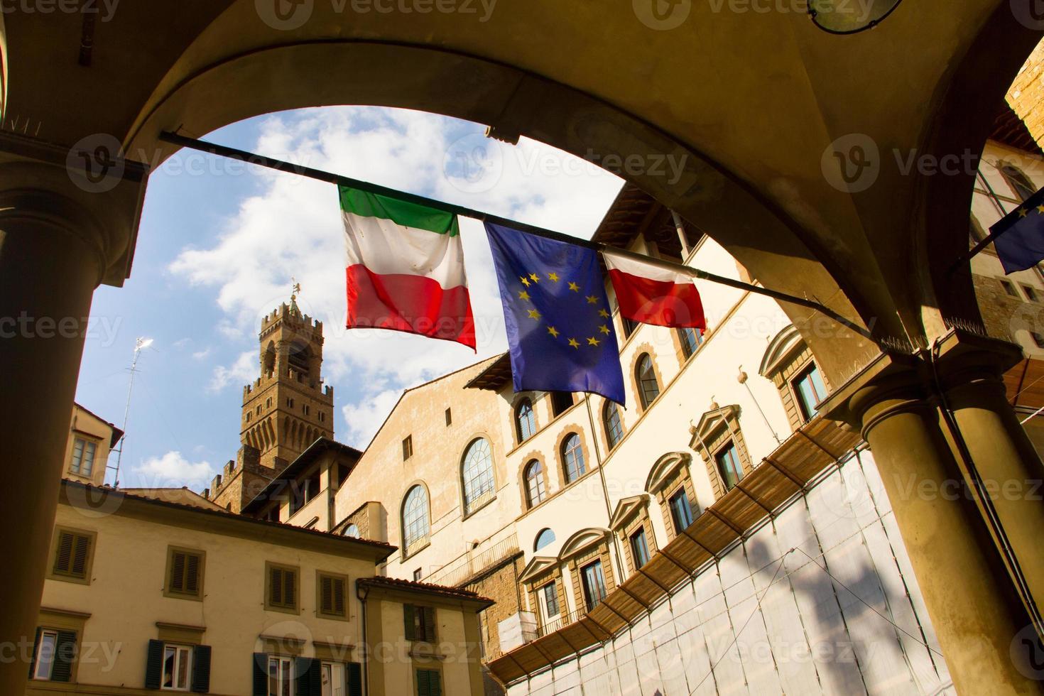 Italië straatbeeld in florence foto