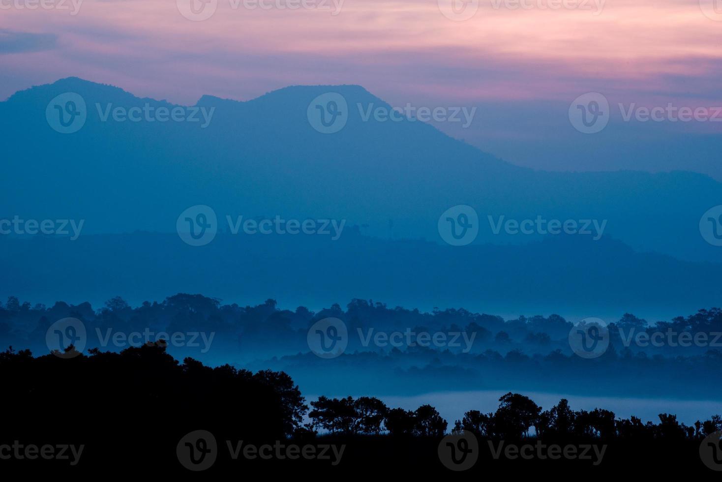 capa de bosque de sabana y montaña en Tailandia foto