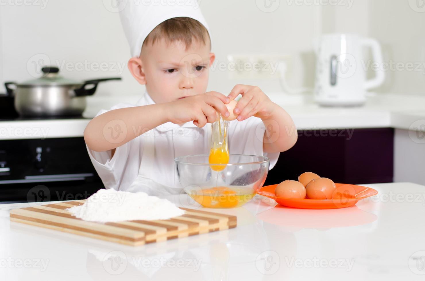 joven ganando para ser chef foto