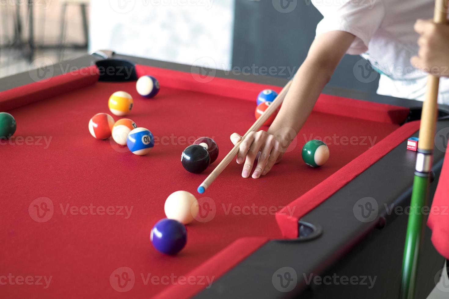 jugador de pelota y snooker foto