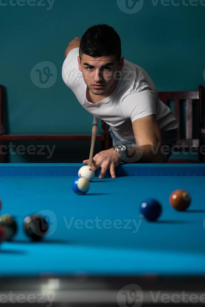 el jugador de billar foto