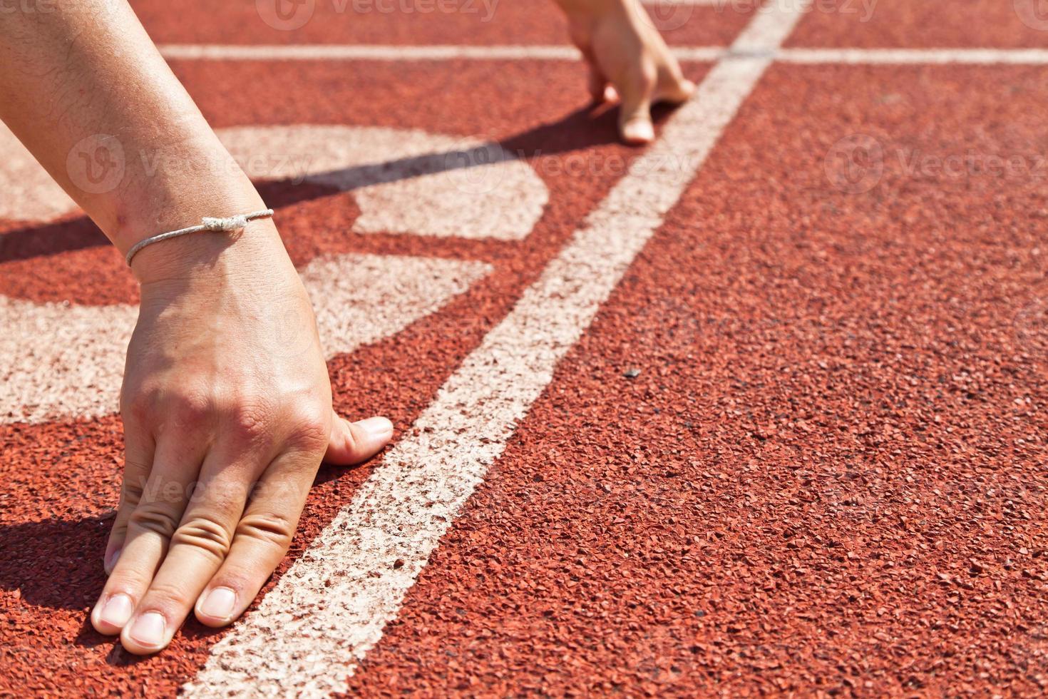 sprintstart en atletismo foto