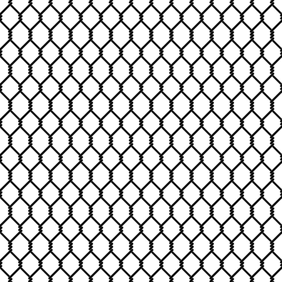 eslabón de la cadena negra de patrones sin fisuras vector