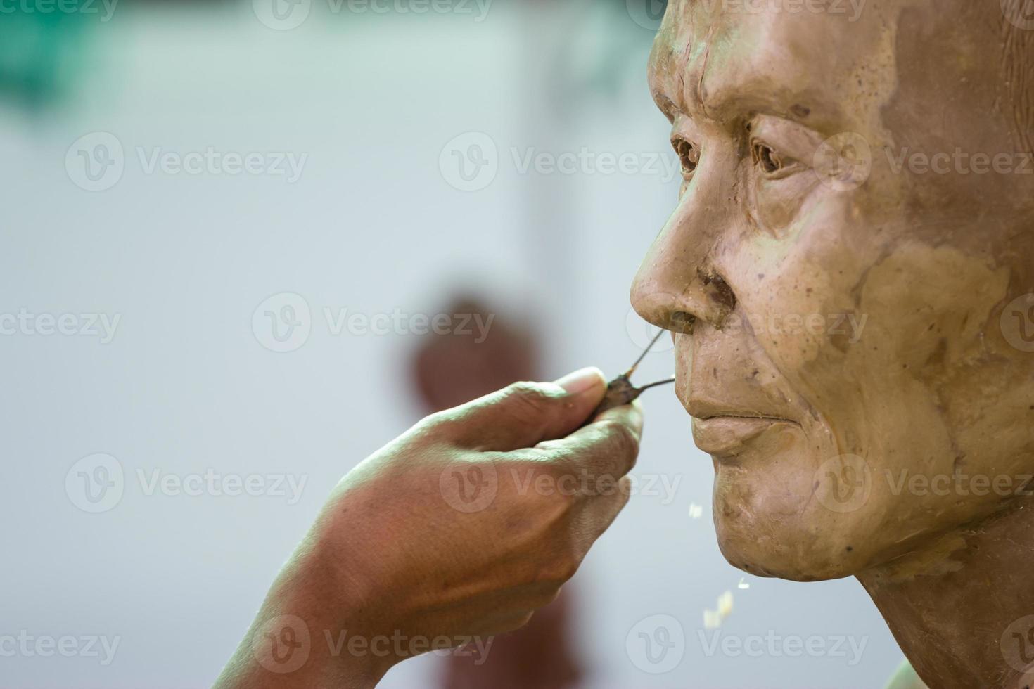 buddha face by wax photo