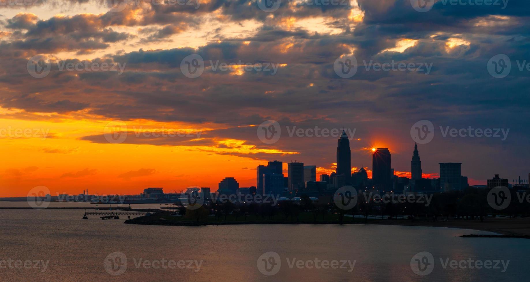 Cleveland sunrise display photo