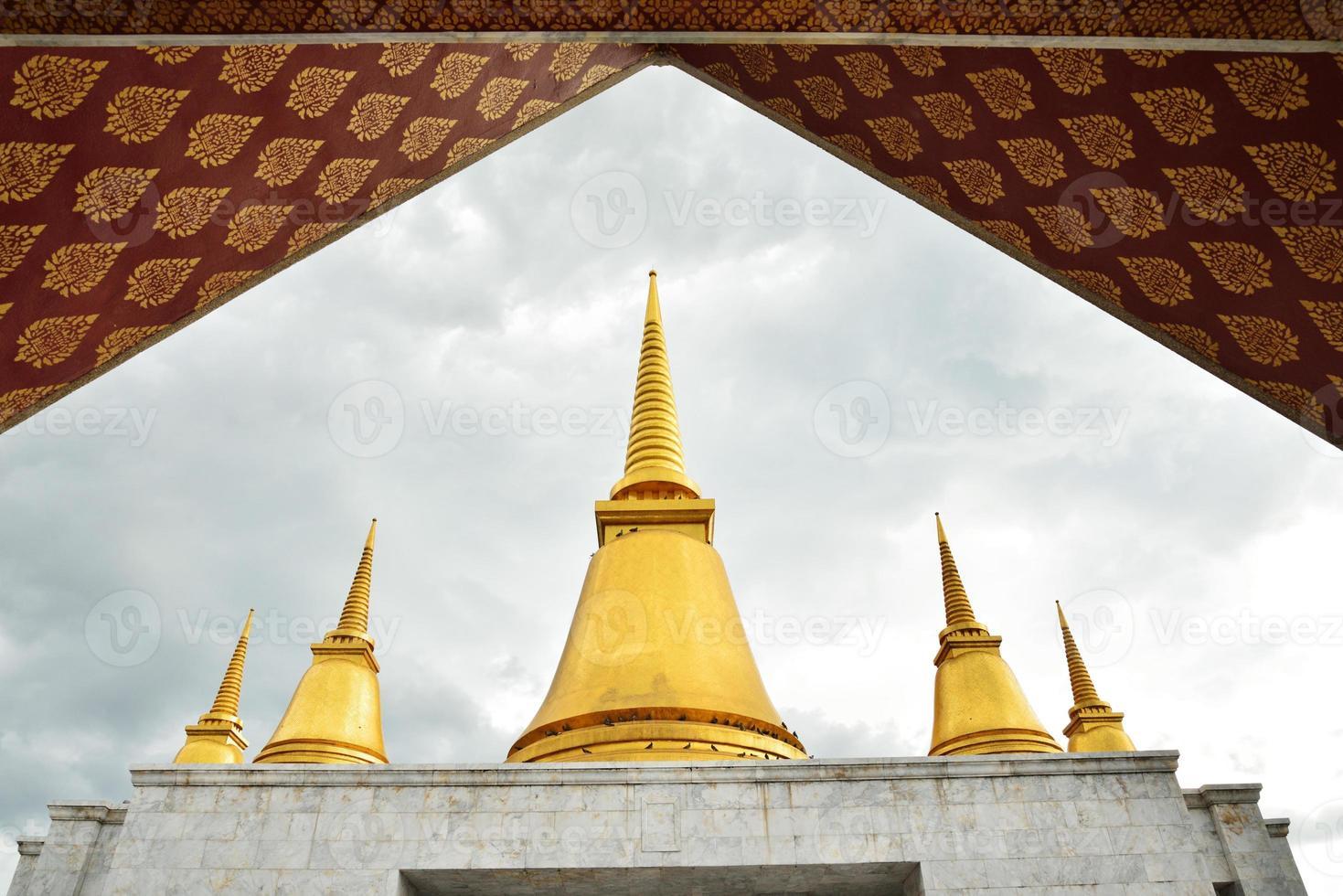 temple at phutthamonthon province photo