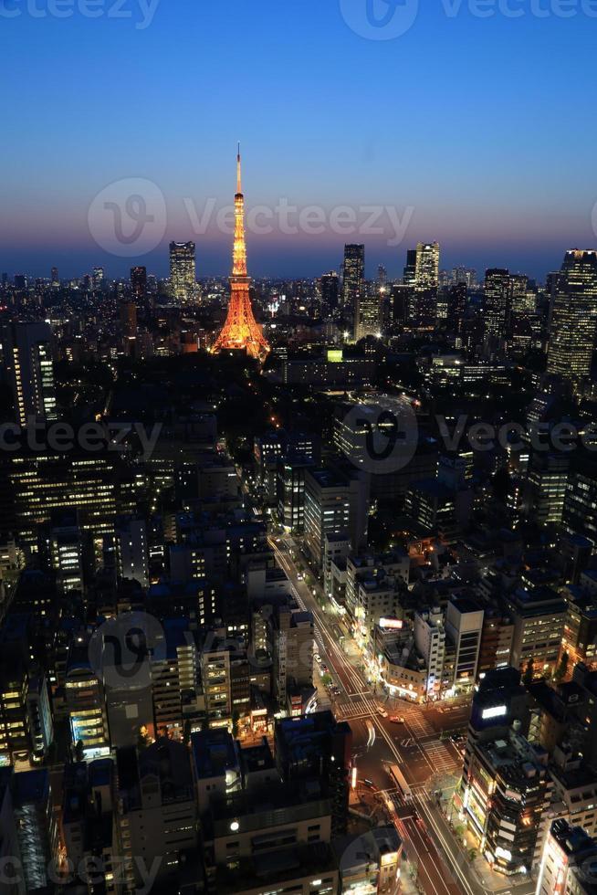 Paisaje urbano de Tokio, Japón foto