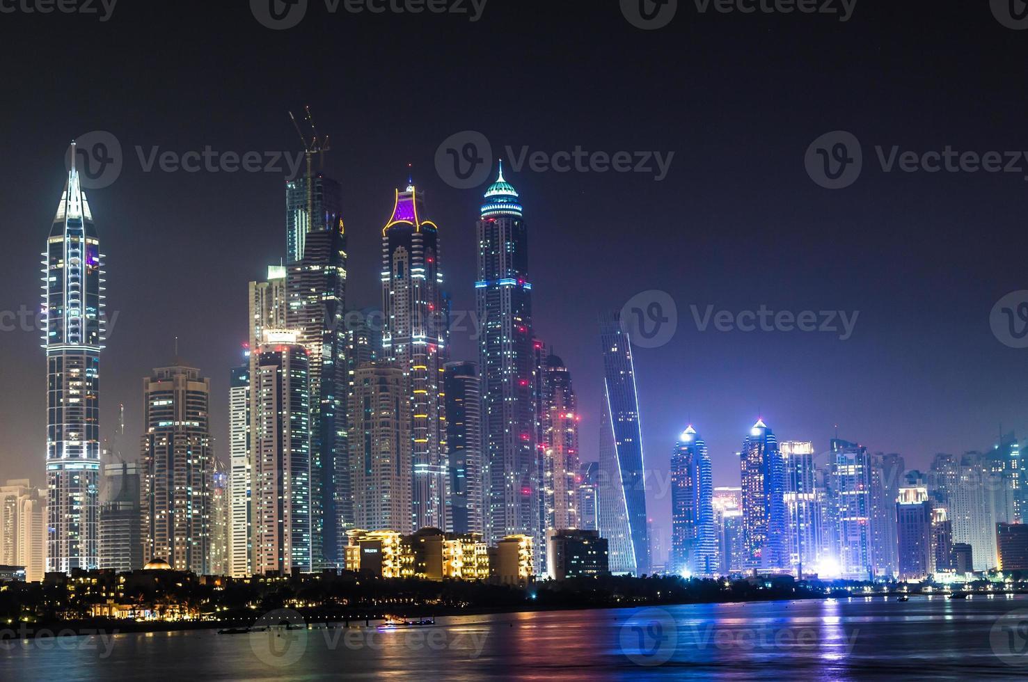Dubai Marina cityscape, UAE photo