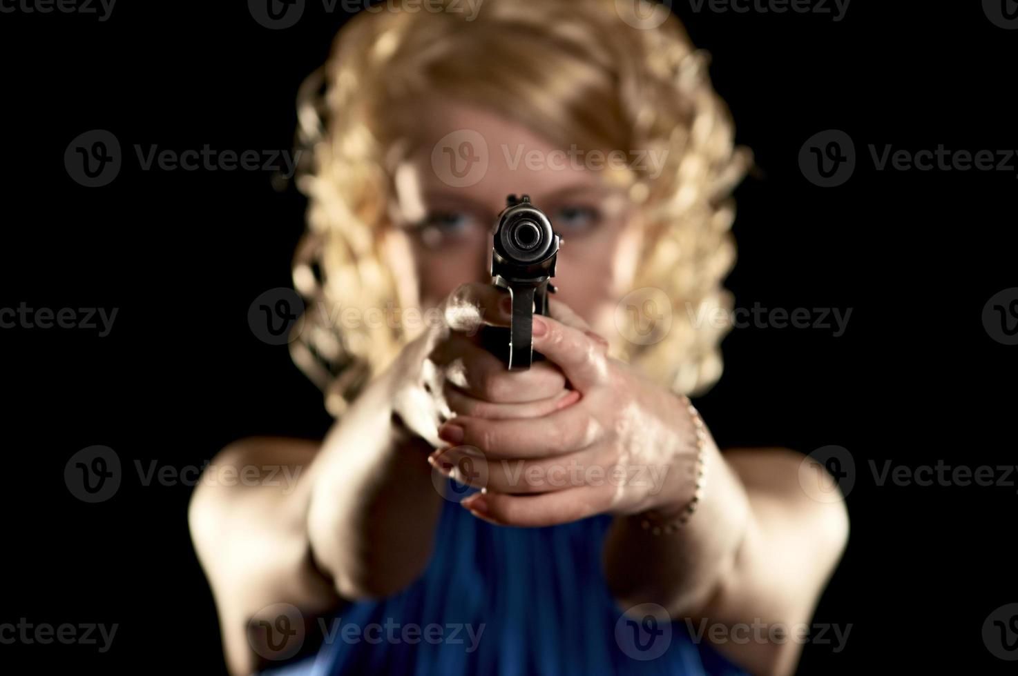 girl with weapon photo