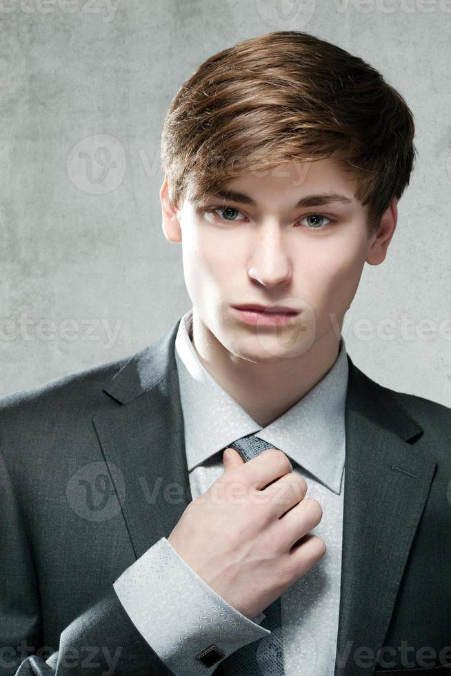 Portrait of a young business man photo