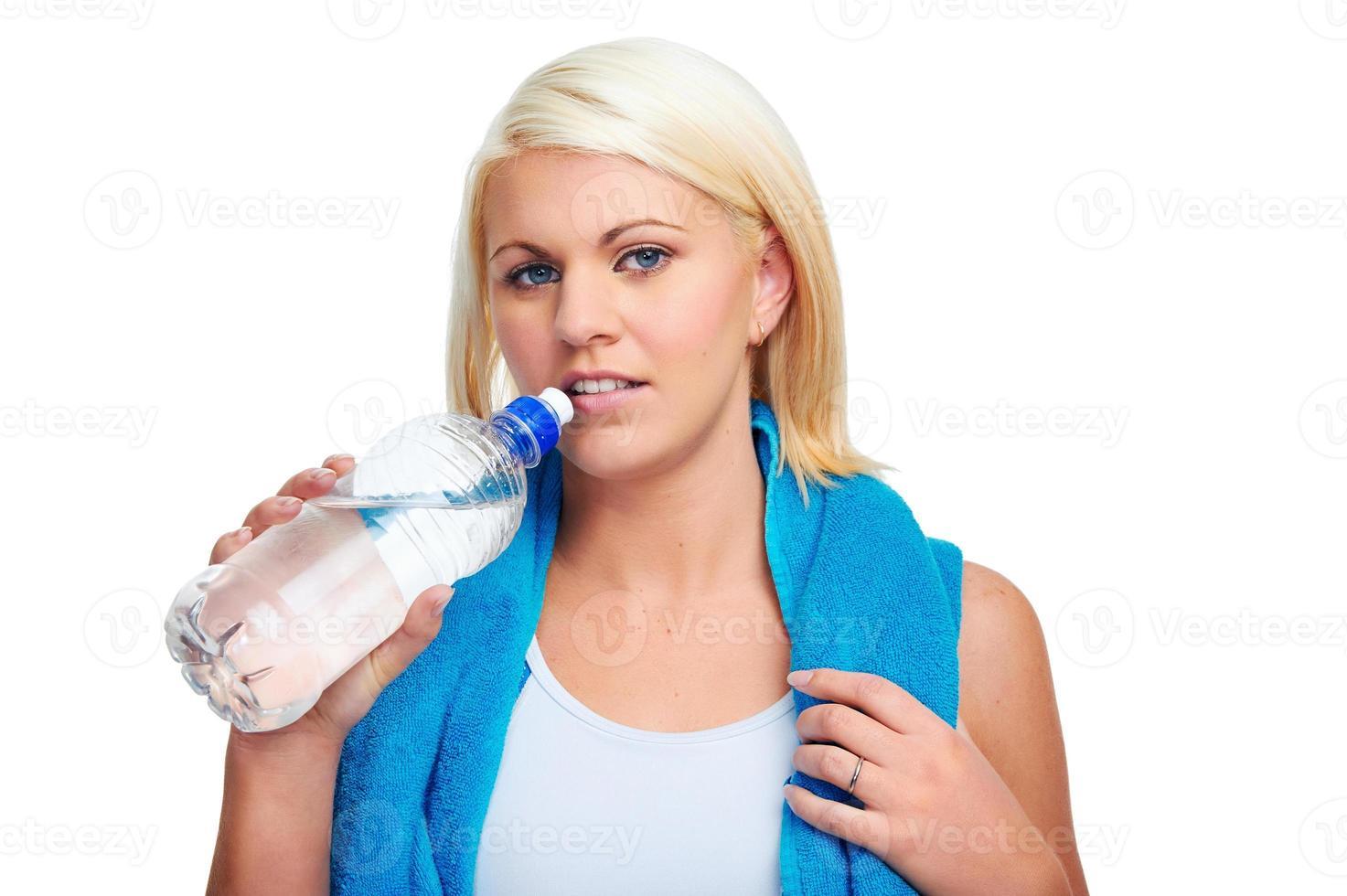 botella de agua de gimnasio foto