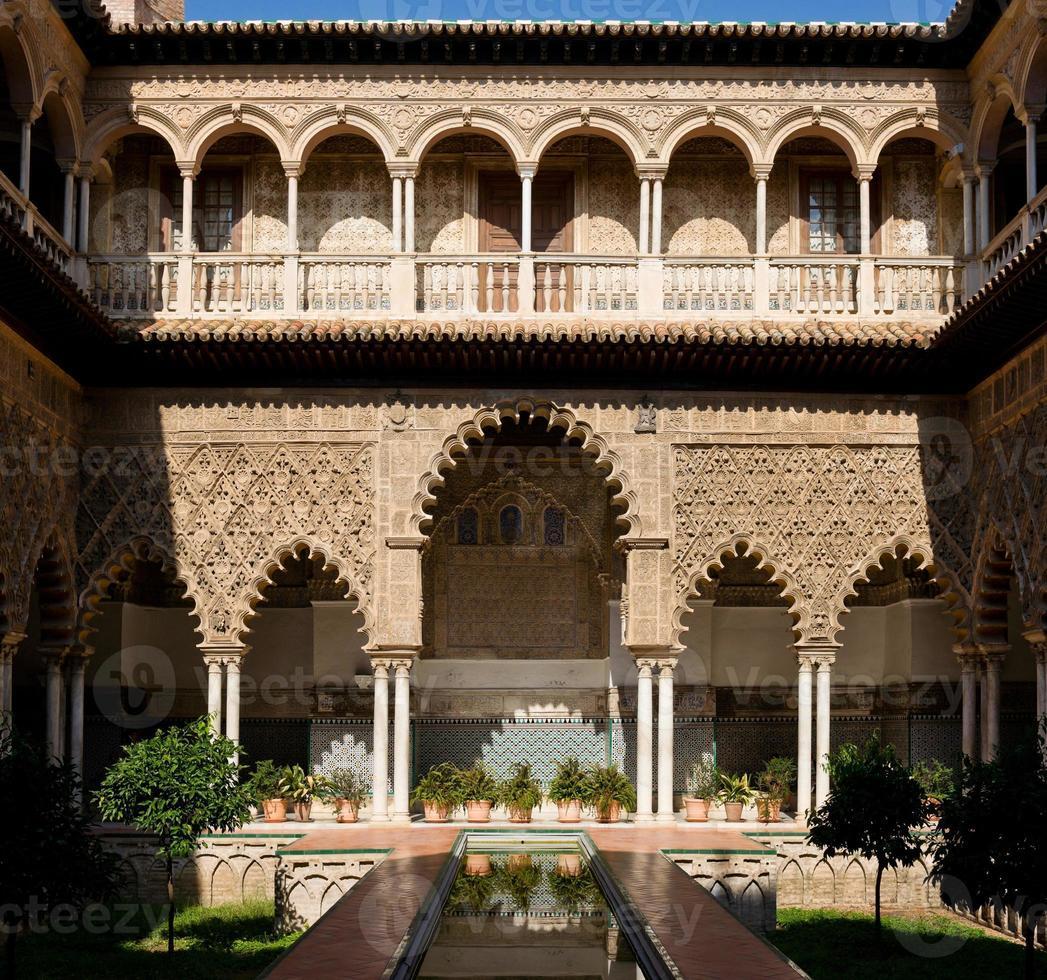 Patio de las Doncellas, Alcázar of Seville, Spain photo