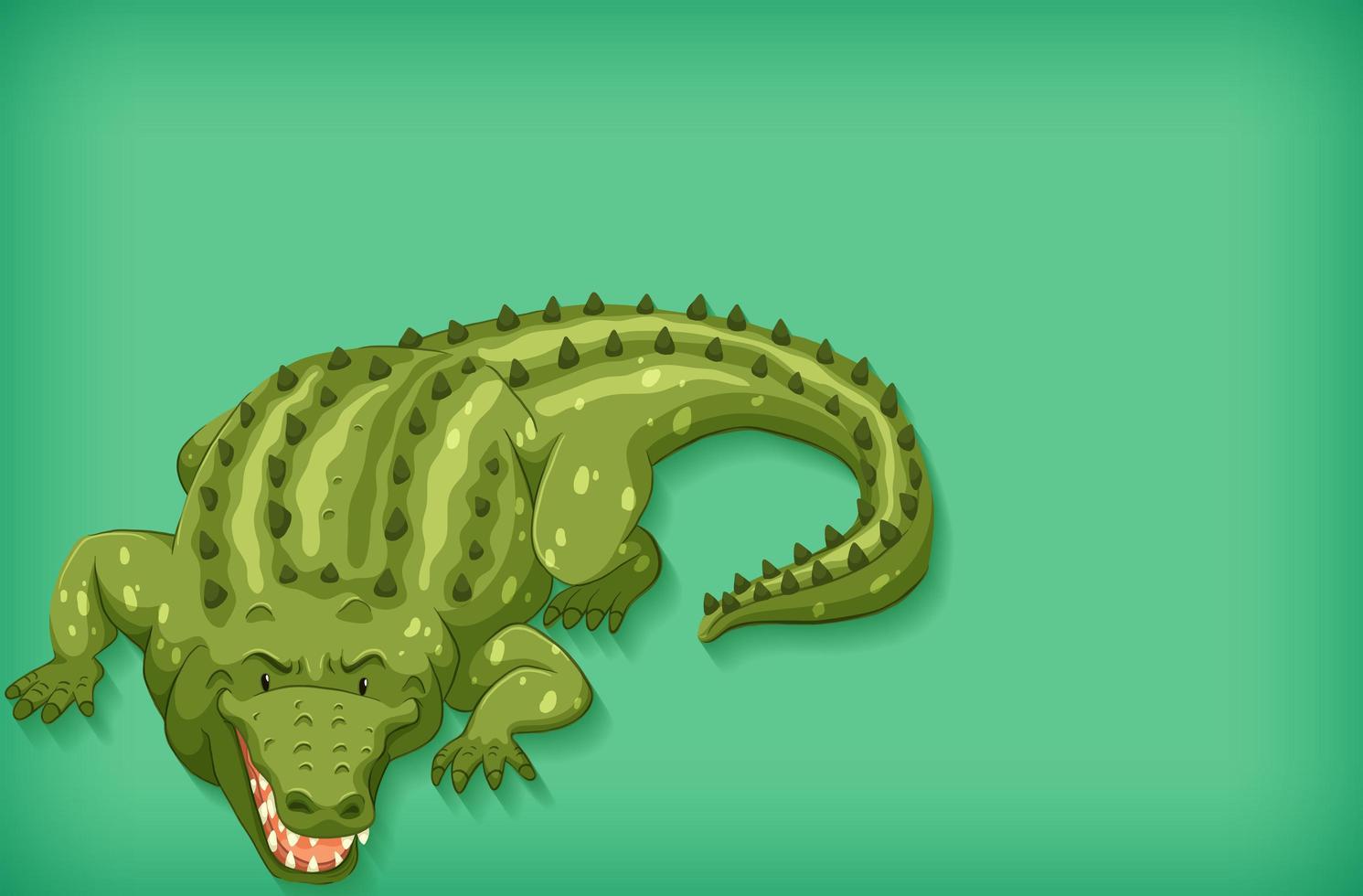 fondo verde cocodrilo vector