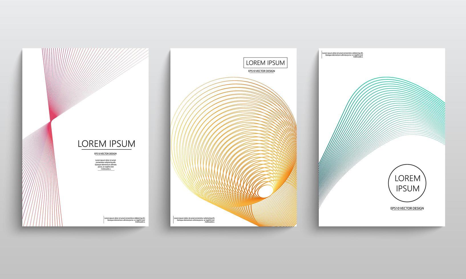 Geometric elements for brochures  vector