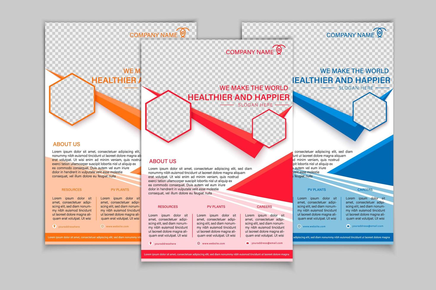Flyers report infographic  vector