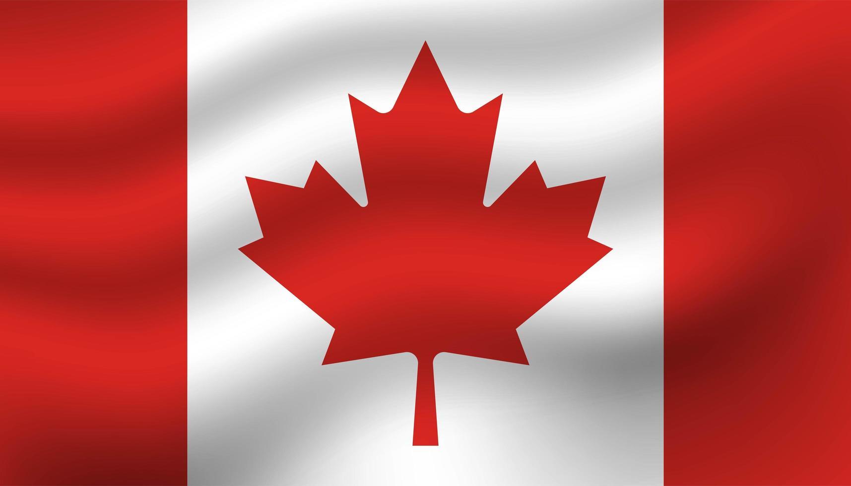 Fondo de bandera de Canadá vector
